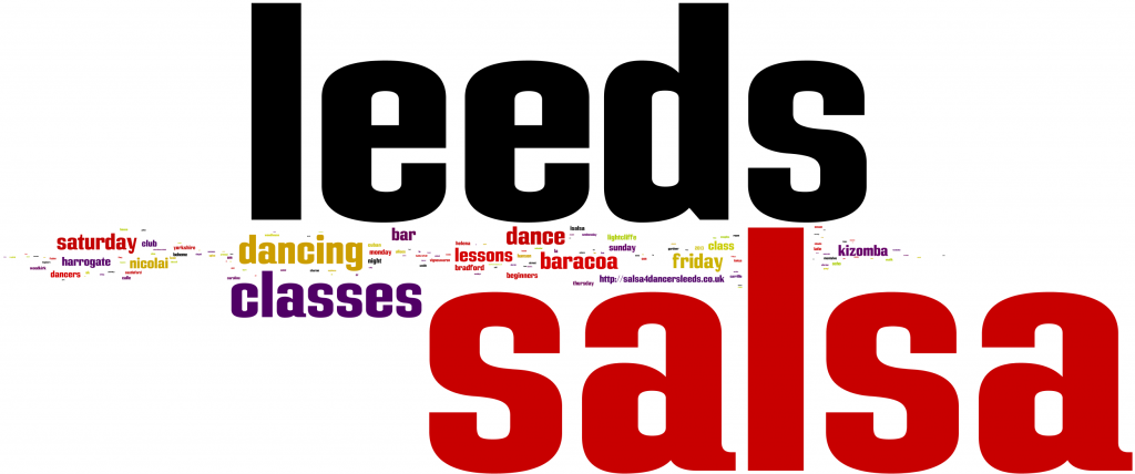 Salsa 4 Dancers Leeds Word Cloud